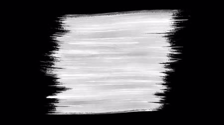 トランザクション : Abstract paint brush stroke black and white transition background, animation of paint splash. Brush stroke black and white transition background. Animation of paint splash