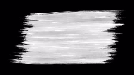 kleks : Single paint brush stroke black and white alpha background texture element