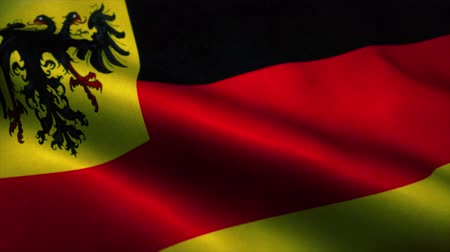 wapperende vlag : Germany flag waving in the wind. National flag of Germany. Sign of Germany seamless loop animation. 4K