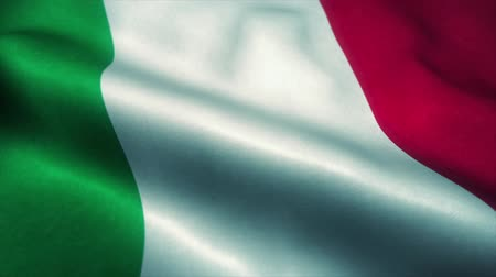 Řím : Italy flag waving in the wind. National flag of Italy. Sign of Italy seamless loop animation. 4K Dostupné videozáznamy