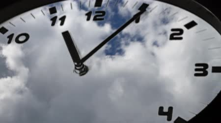 zegar : time lapse of clouds in the fast spinning clock