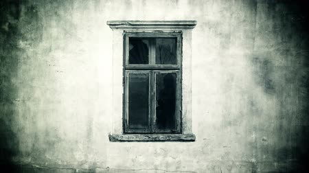 horror : Female ghost behind the window, horror concept