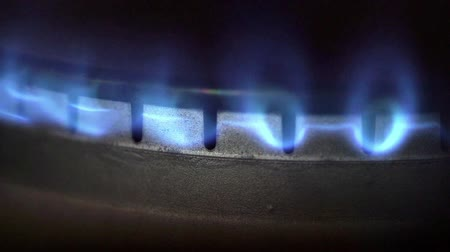 propane : Natural gas flame from kitchen stove burner - energy and power concept