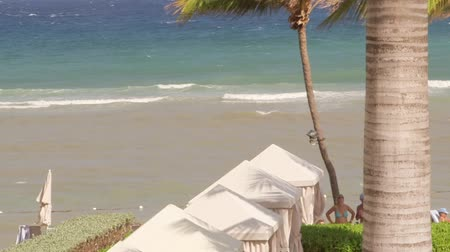 jamaica : Tropical Caribbean beachfront hotel located in Montego Bay, Jamaica Stock Footage