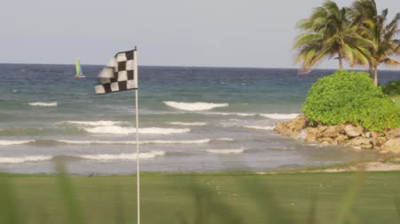 jamajka : Caribbean Resort golf course along the shores of tropical island paradise Montego Bay, Jamaica Wideo