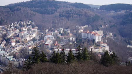 çek cumhuriyeti : Panoramic view of Carlsbad (Karlovy Vary) Czech Republic