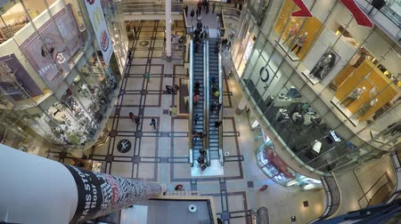 centrum : Shopping center Palladium in Prague Czech Republic, timelapse