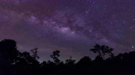 timelapse : Milky Way and galaxy.