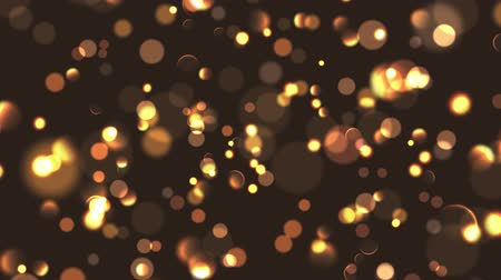 starry sky : Bokeh lights background. Defocused night lights golden particles. Stock Footage