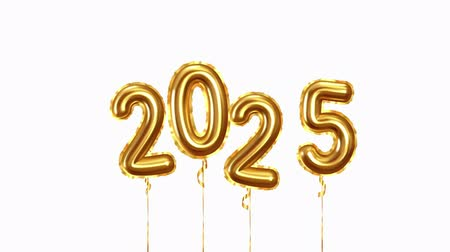 szenteste : Baloon air numbers. 2025 Happy New Year golden balloons