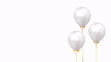 Background with helium balloons. Realistic celebration baloon