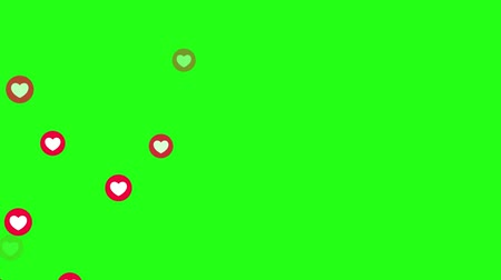 kciuk : Social network love heart icon animation. Symbol like social media. 4k video
