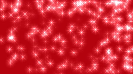 elnök : Many Stars on Red Background Loop 25fps Stock mozgókép
