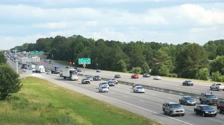 sc : slowing traffic during evening rush hour on I-26 near the I-20 junction in Columbia South Carolina