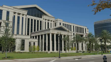 The  Duval Courthouse in downtown Jacksonville Florida which began construction in 2009 and finished in 2012