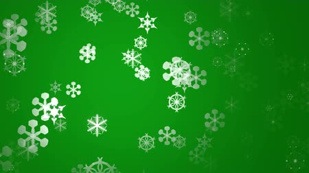 мягкость : snowflakes on green background