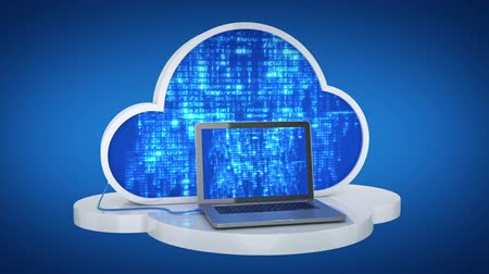 mraky : Cloud computing, laptop