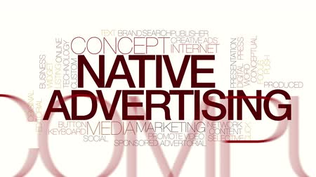 promover : Native advertising animated word cloud. Kinetic typography.