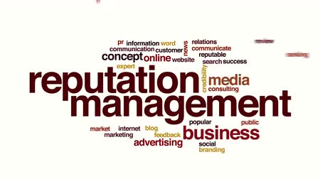 общественный : Reputation management animated word cloud. Стоковые видеозаписи