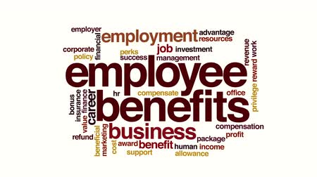 compensar : Employee benefits animated word cloud
