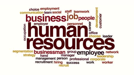 recursos : Human resources animated word cloud Vídeos