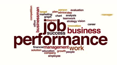 gestão : Job performance animated word cloud
