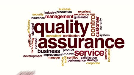 excelência : Quality assurance animated word cloud