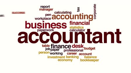 imposto : Accountant animated word cloud. Kinetic typography.
