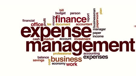 kalkulačka : Expense management animated word cloud