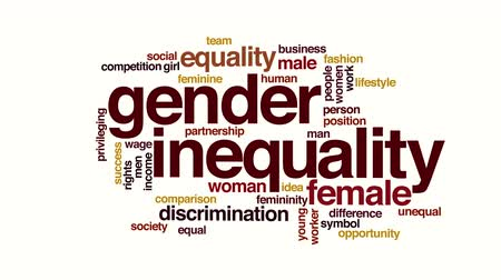 eşitlik : Gender inequality animated word cloud