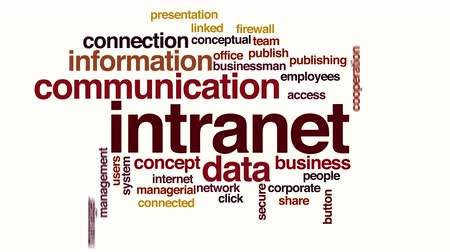 conectado : Intranet animated word cloud. Kinetic typography. Stock Footage