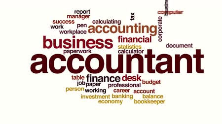imposto : Accountant animated word cloud.