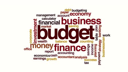 finanziaria : Budget animata word cloud