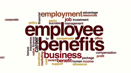 премия : Employee benefits animated word cloud