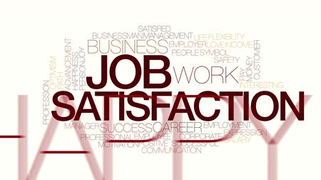 pracodawca : Job satisfaction animated word cloud. Kinetic typography.