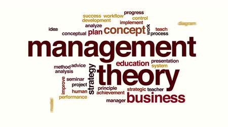 teoria : Management theory animated word cloud Vídeos