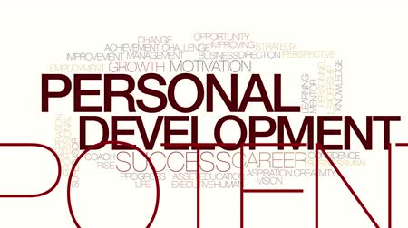 supervisor : Personal development animated word cloud. Kinetic typography.