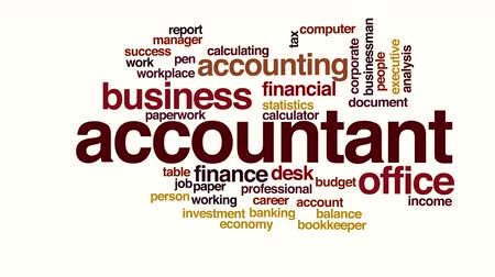kalkulačka : Accountant animated word cloud.