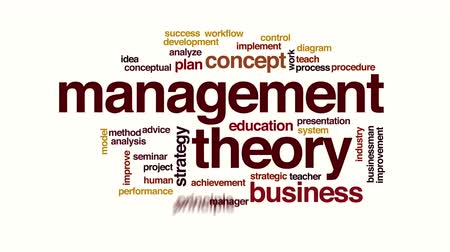haladás : Management theory animated word cloud Stock mozgókép