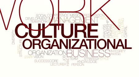 corporativa : Organizational culture animated word cloud. Kinetic typography.