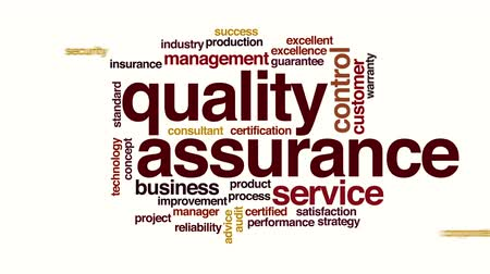 excelência : Quality assurance animated word cloud. Stock Footage