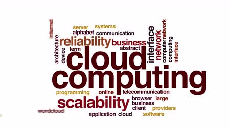 felhőzet : Cloud computing animated word cloud.