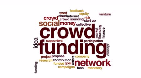 financování : Crowdfunding animated word cloud