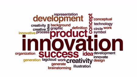 innováció : Innovation animated word cloud