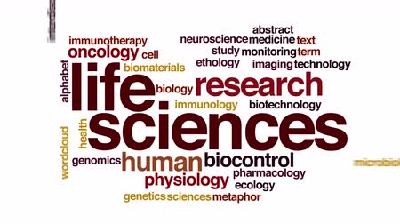 oncology : Life sciences animated word cloud Stock Footage