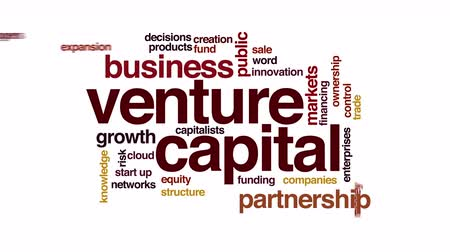 financování : Venture capital animated word cloud