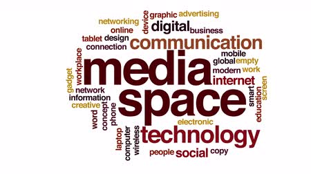 gadżety : Media space food animated word cloud. Wideo