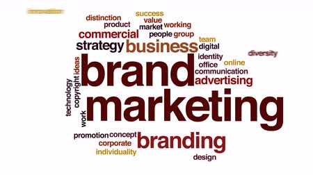 цифровой : Brand marketing animated word cloud.