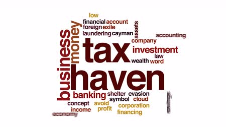 evasion : Tax haven animated word cloud.