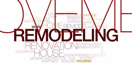 konyhai : Remodeling animated word cloud. Kinetic typography.
